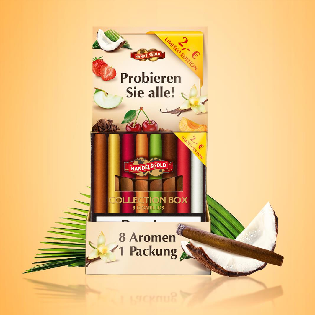 Handelsgold Sweet Cigarillos in der Collection Box
